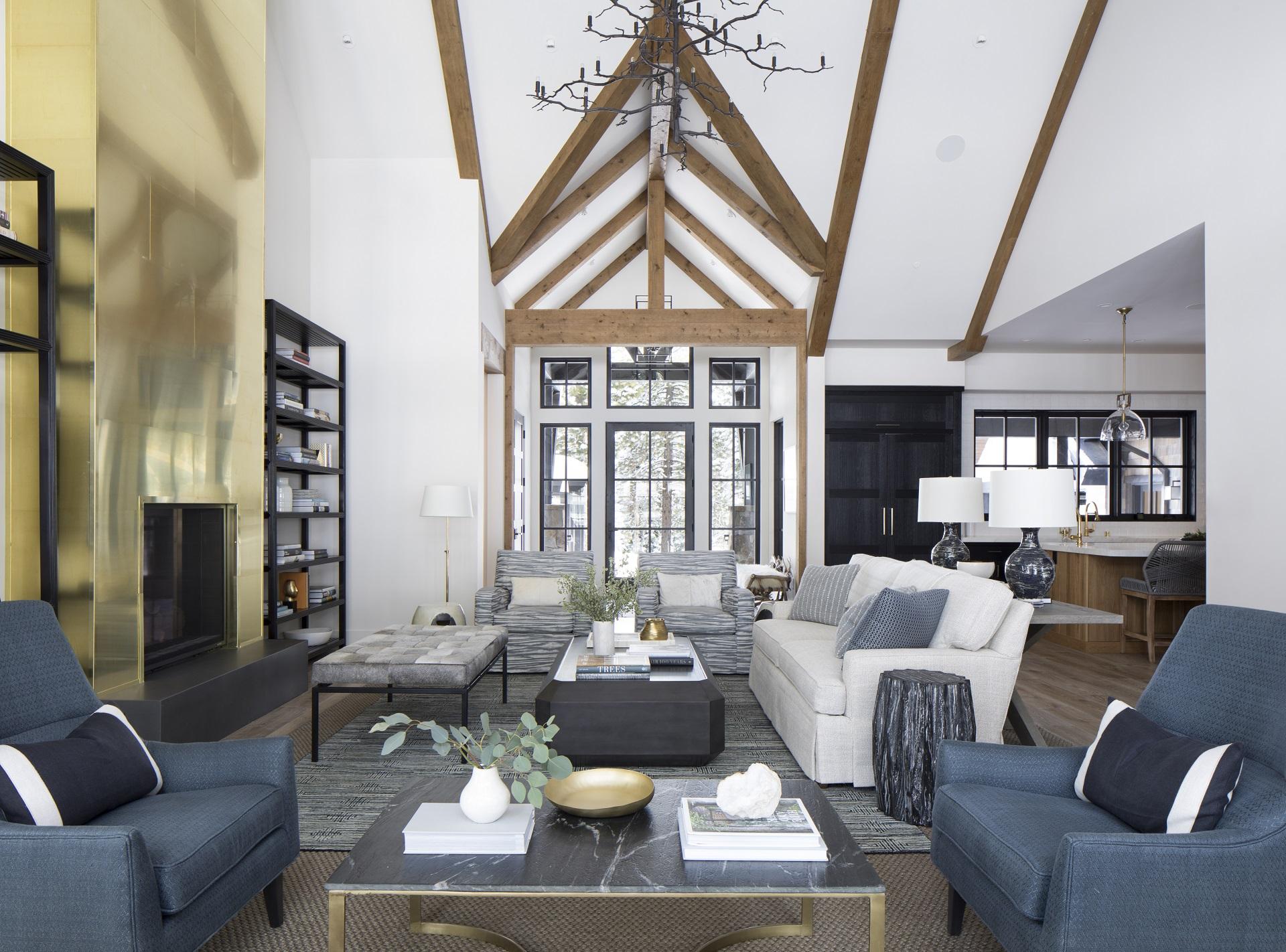Upholstered furniture at ski home