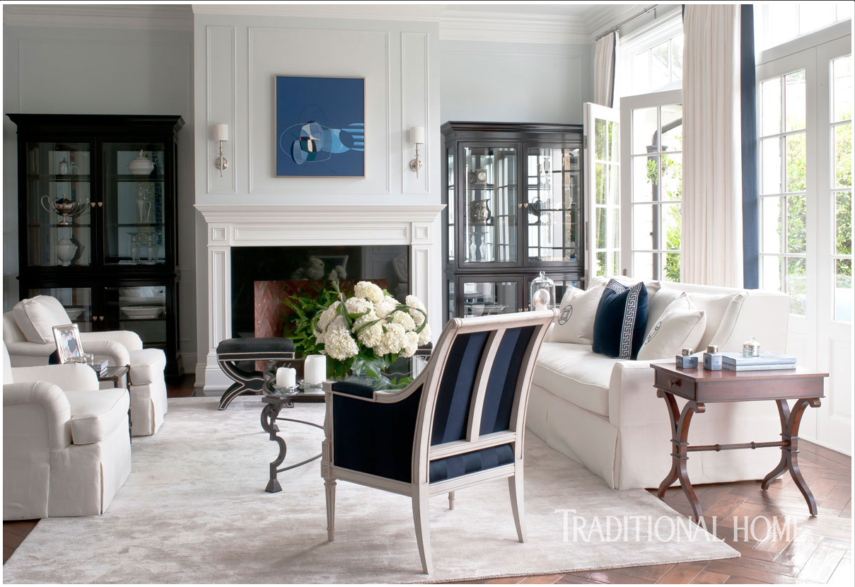Catherine Miller and Valley Drapery and Upholstery featured in Traditional Home Living Room