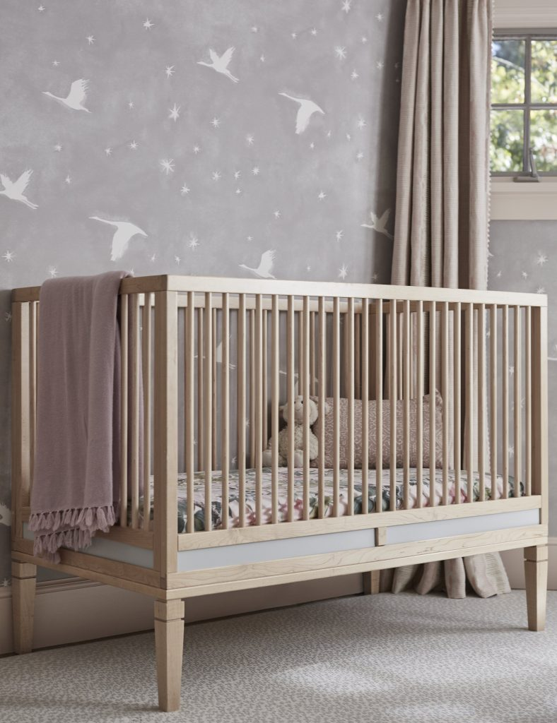 Custom baby crib and sham