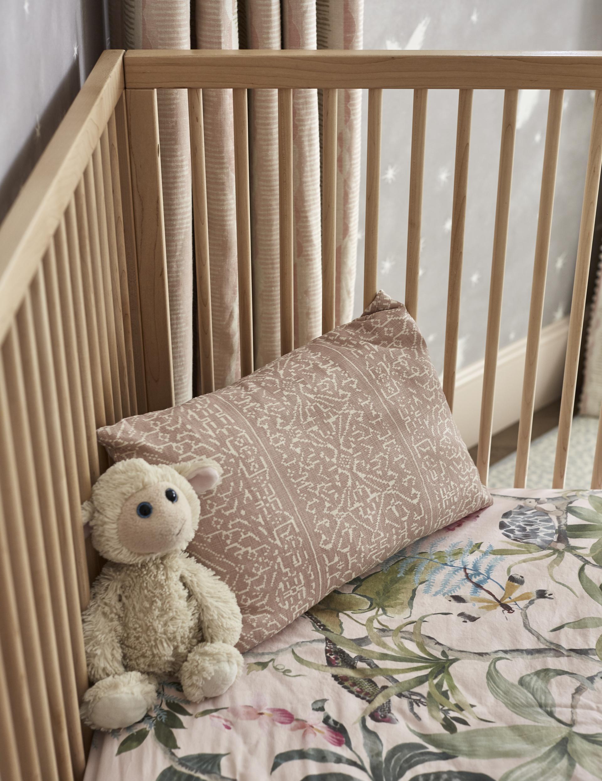 Custom rose crib bedding