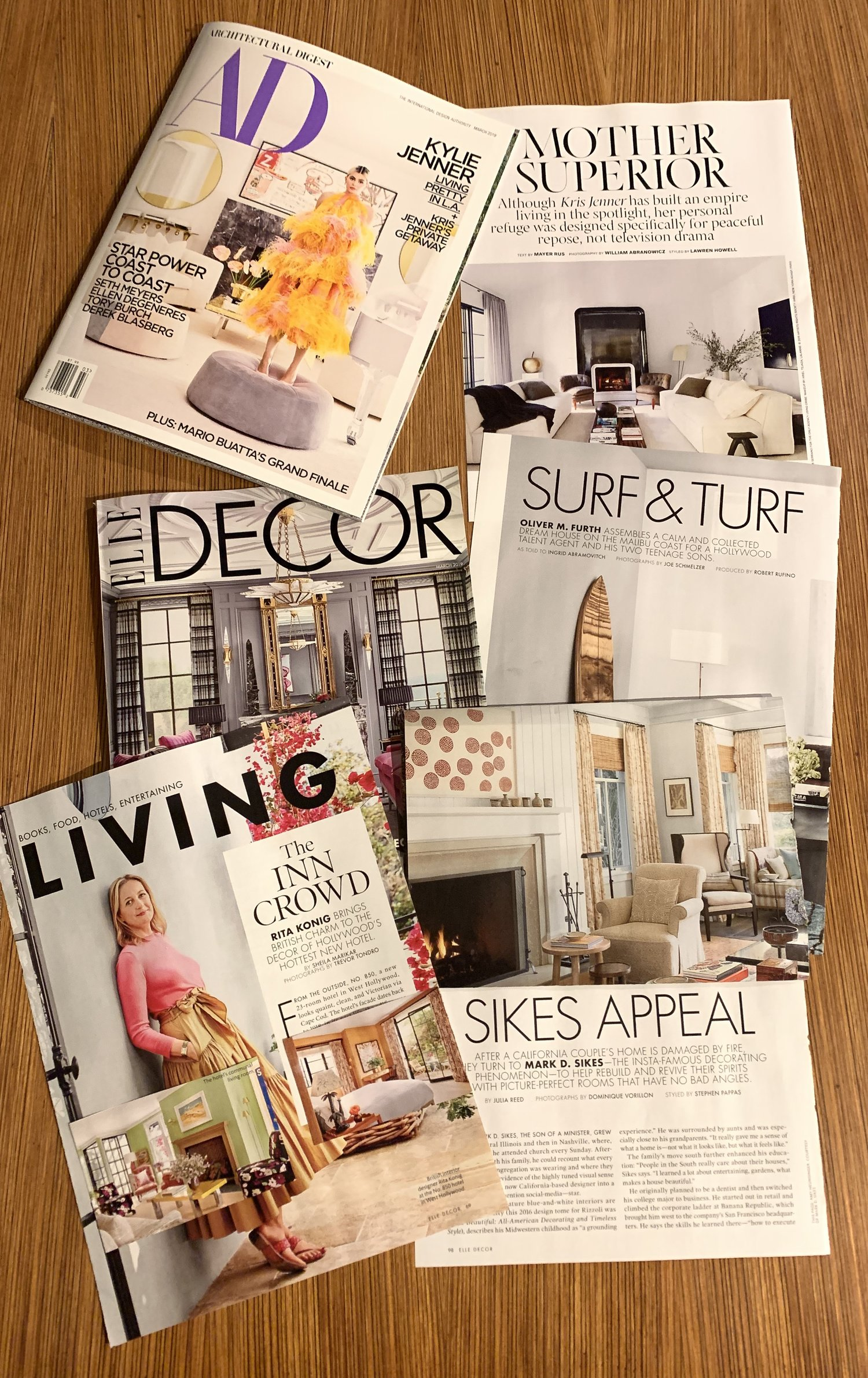 Valley Drapery features in ELLE Decor and Architectural Digest