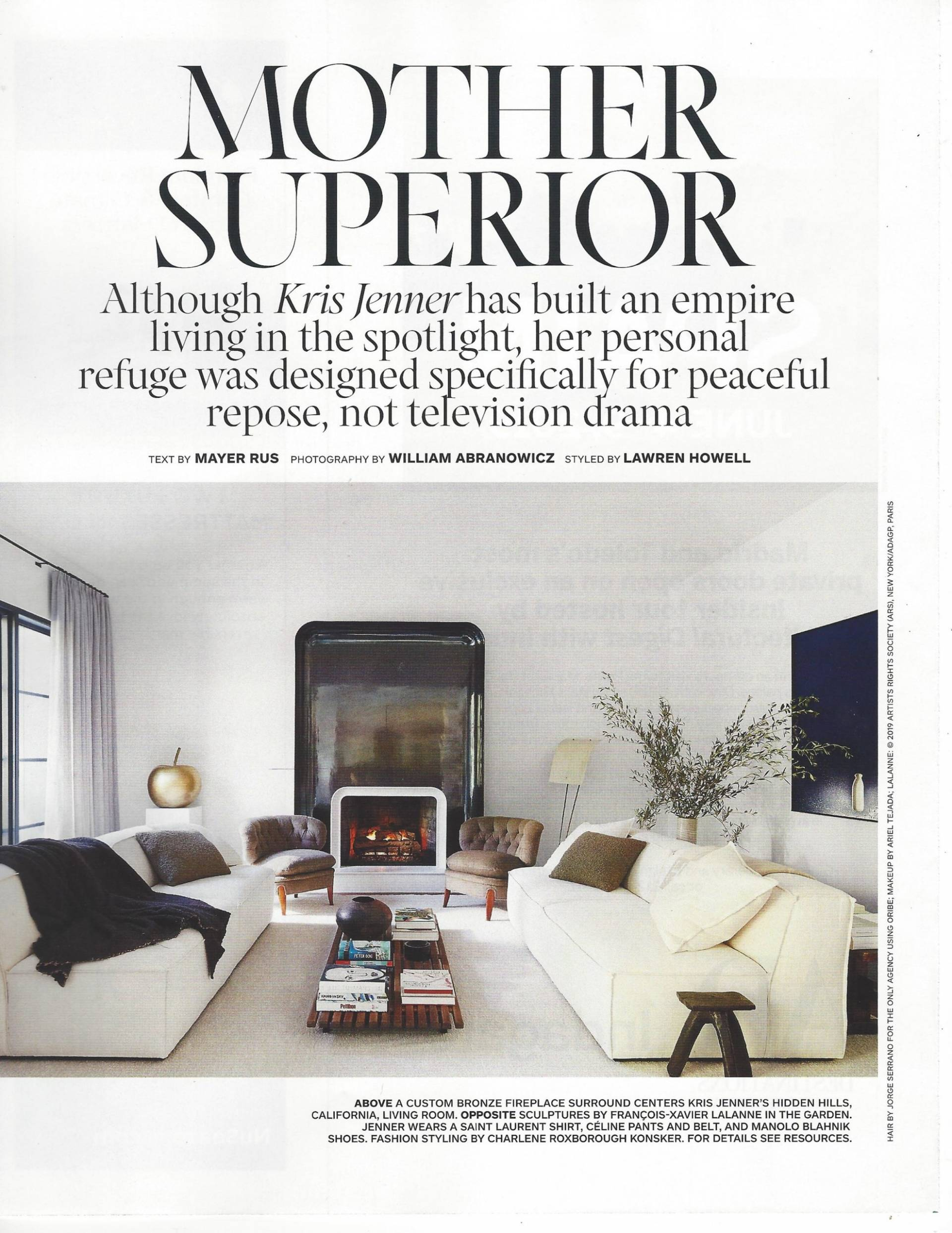 Valley Drapery and Upholstery featured in Architectural Digest March 2019