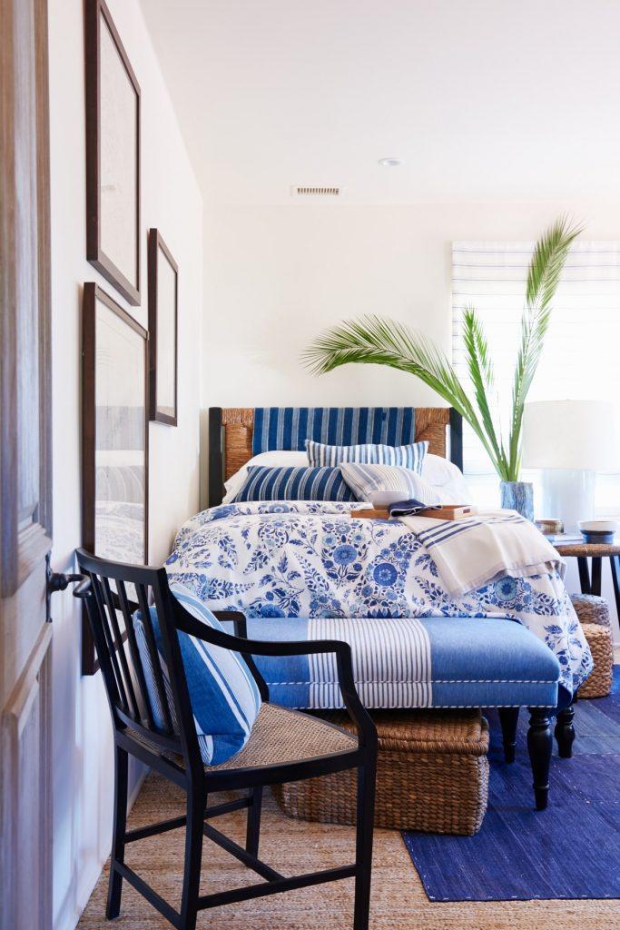 Boys custom bedding and foot ottoman