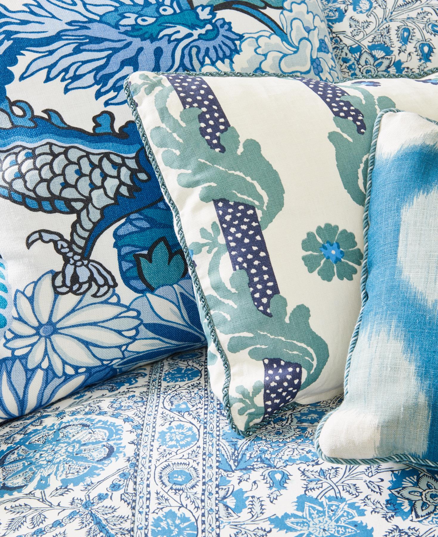 Various blue textiles
