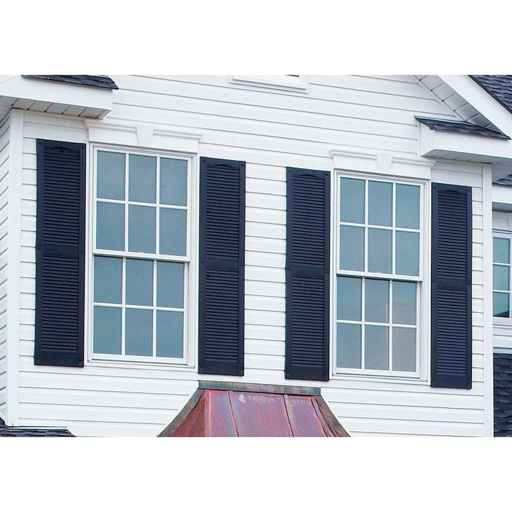Blue plantation exterior shutters