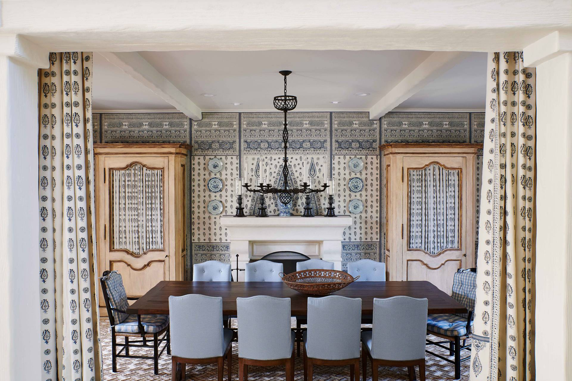 Blue Formal Dining Room Chairs
