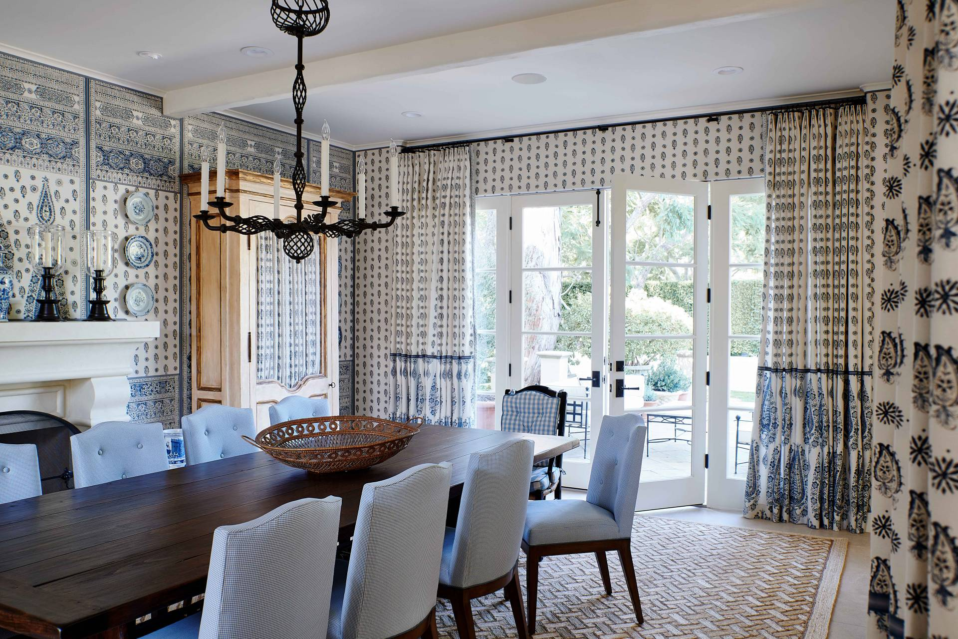 Formal Dining Room Chairs and Drapes