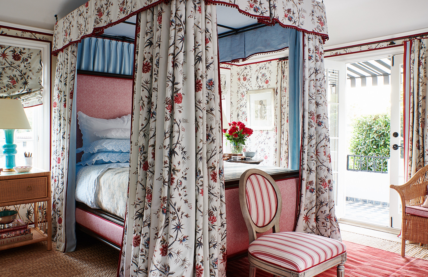 Floral Canopy Bed