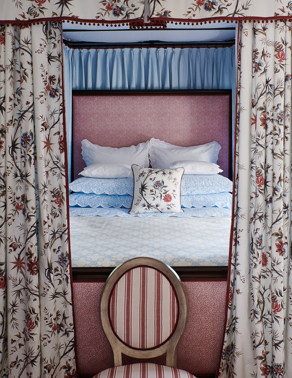 Patterned Bed Canopy Drapery
