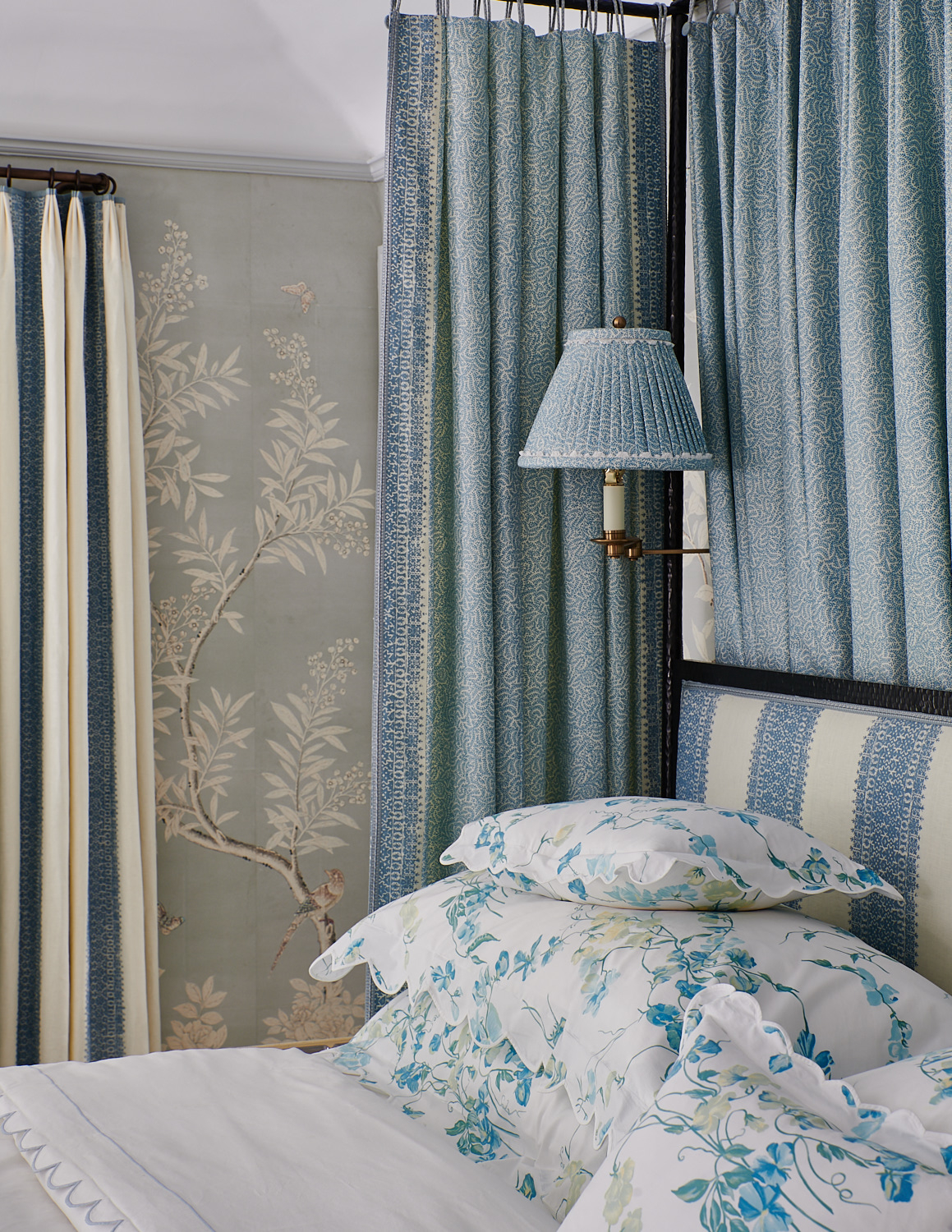 Bed Canopy and Pillows with Matching Lampshade