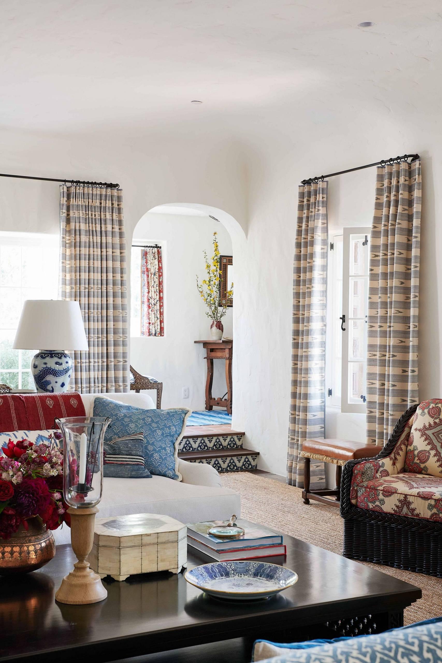 Family Room Drapery and Sofa