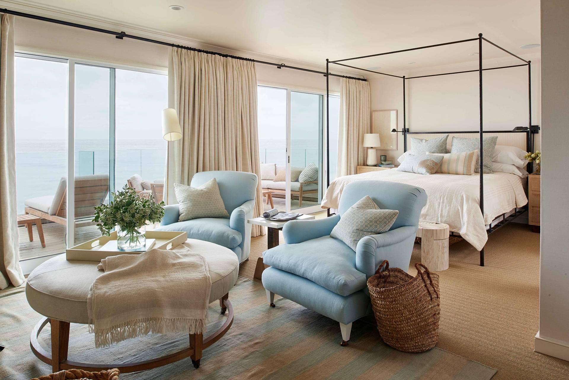 Contemporary Master Bedroom Overlooking Ocean
