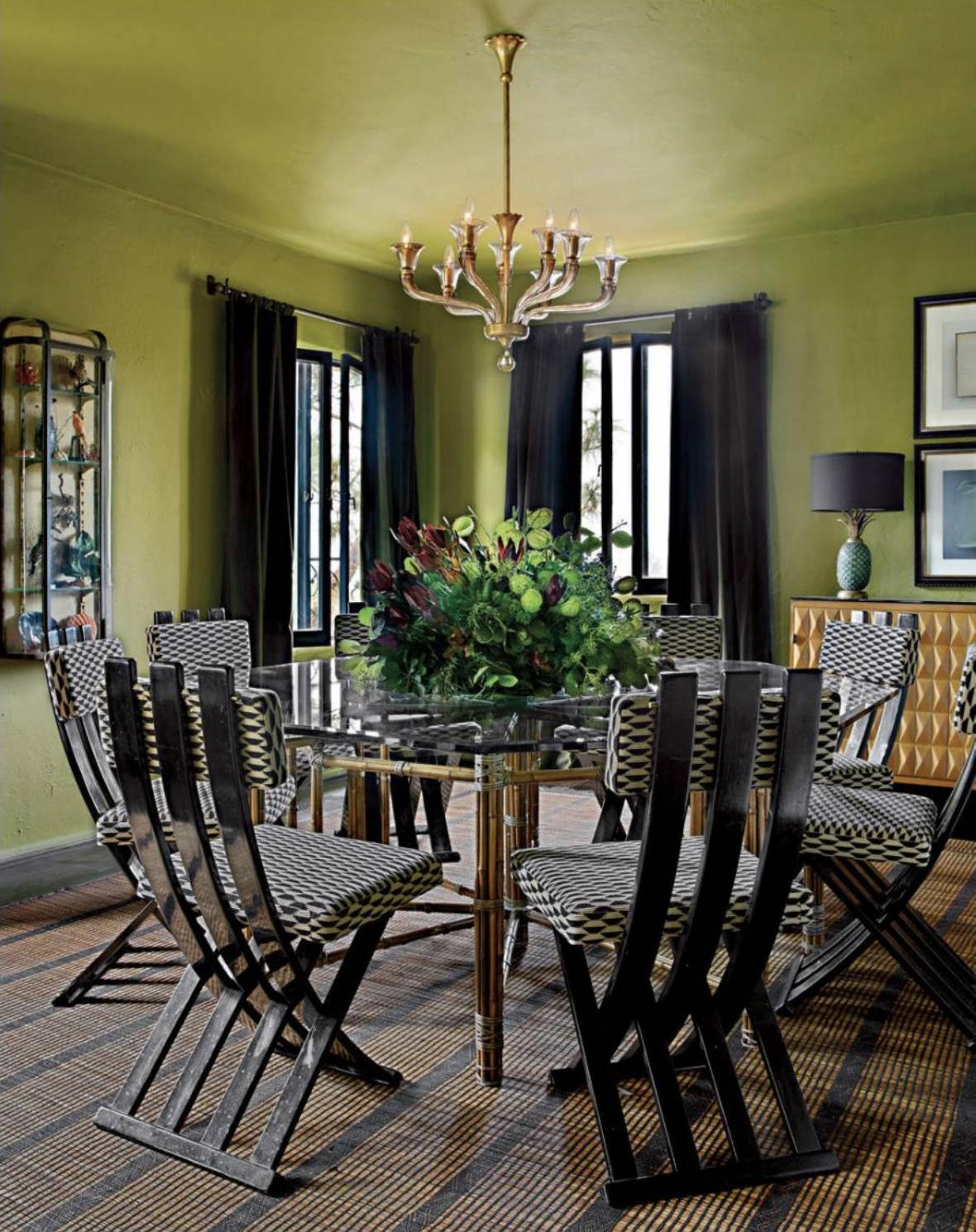 Scott Formby Luxe Checkered Dining Chairs